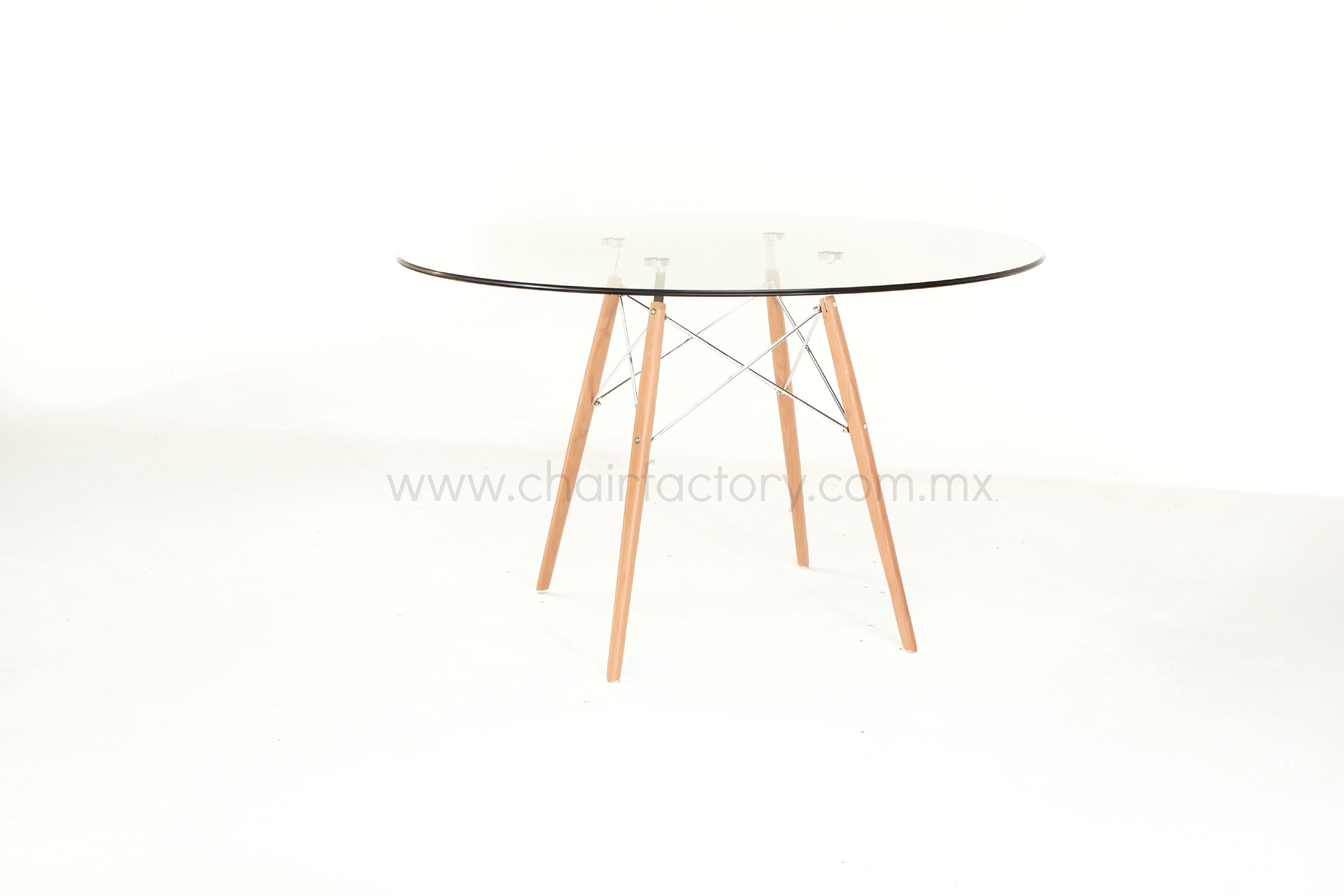 Mesa charles cristal 120 cm chair factory for Mesa cristal 90 cm